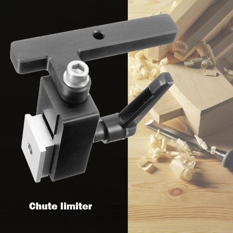 Woodworking Chute Backing Limiter Connector ABS Steel DIY Durable and Easy to Use <font><b>T</b></font> Slot Miter <font><b>Track</b></font> Stop Locator DIY Tools image