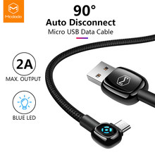 Mcdodo Micro USB Cable 2A Fast Charge For Samsung Huawei Xiaomi Auto Disconnect Data USB Cable Andriod Phone LED Micro USB Cable(China)