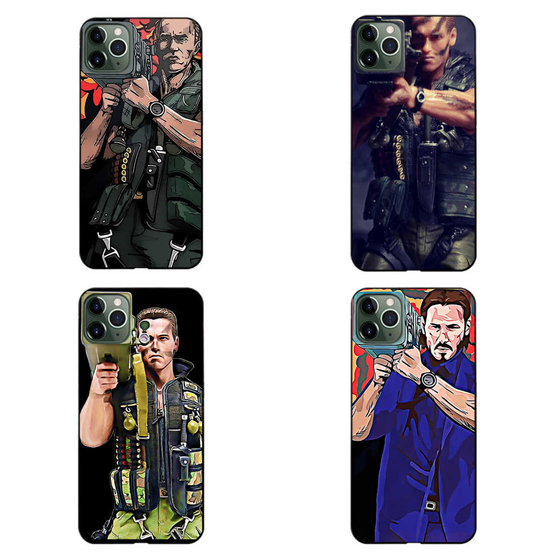 Arnold Schwarzenegger Grappige Rocket Telefoon Case Silicone Black Sotf TPU Cover voor iphone 11Pro MAX 6 6s 7 8plus 5s X XS XR XSMax