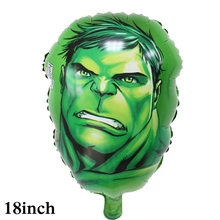 1pc hulk foil balloons avengers head style hulk helium balloons for children toys birthday decoration for avenger party balloons the avengers toys baloon ballons helium foil balloons party supplies superhero birthday party decoration avengers balloons