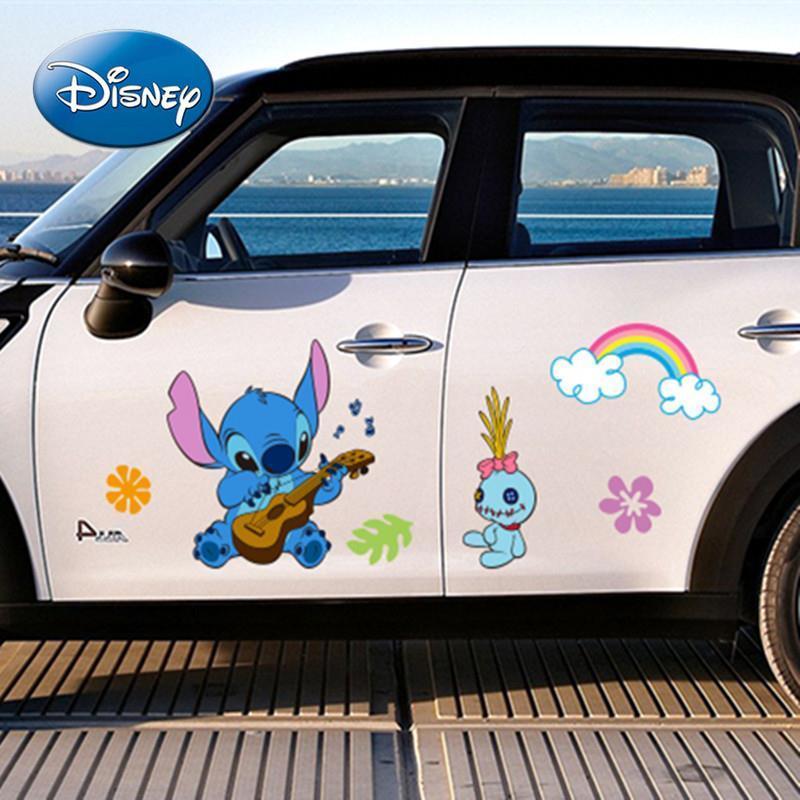 Disney Fashion Stitching Car Sticker Anime Cartoon Car Decoration Glass Body Car Door Sticker Creative Trend Decoration Sticker