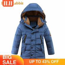 30 grau Crianças crianças Pato Inverno Para Baixo Casaco Acolchoado Crianças Roupas 2020 Meninos Grandes roupas Quentes Casaco Espessamento Outerwear
