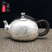 Bule  bule punho de prata  bule  bule de chá de água quente  260ml de água  kung fu jogo de chá.