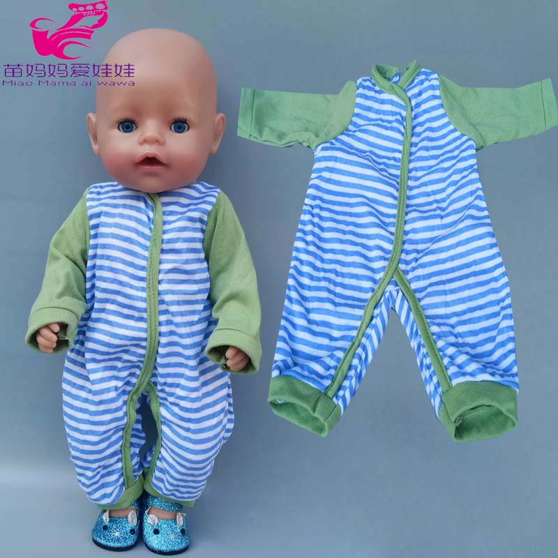 40cm Baby Doll Boys Rompers Clothes For 43cm Baby New Born Doll Clothes Children Girl Toys Coat