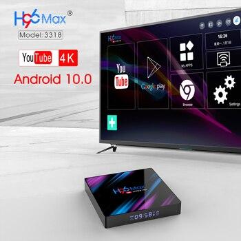 LEMFO H96 Max Plus Android TV Box 4K 2.4/5G WiFi Media Player YoutubeTV Box Android 10.0 Player Google Set top box