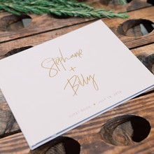 calligraphy Wedding Guest Book custom monogram bridal party sign in book memory book engagement guestbook alternative Ideas Book