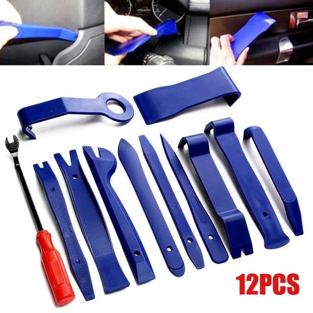Car Repair Tool 12PCS/SET Auto Dent Puller Removal Installer Radio Portable Mechanics Automobile Spotter Body Pry Tools