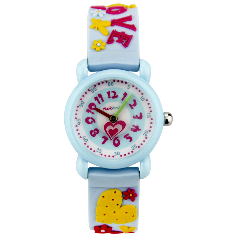 Children's Watches Environmentally Friendly Silicone Waterproof Lovely Printed Children's Quartz Wristwatches Kinderen kijken