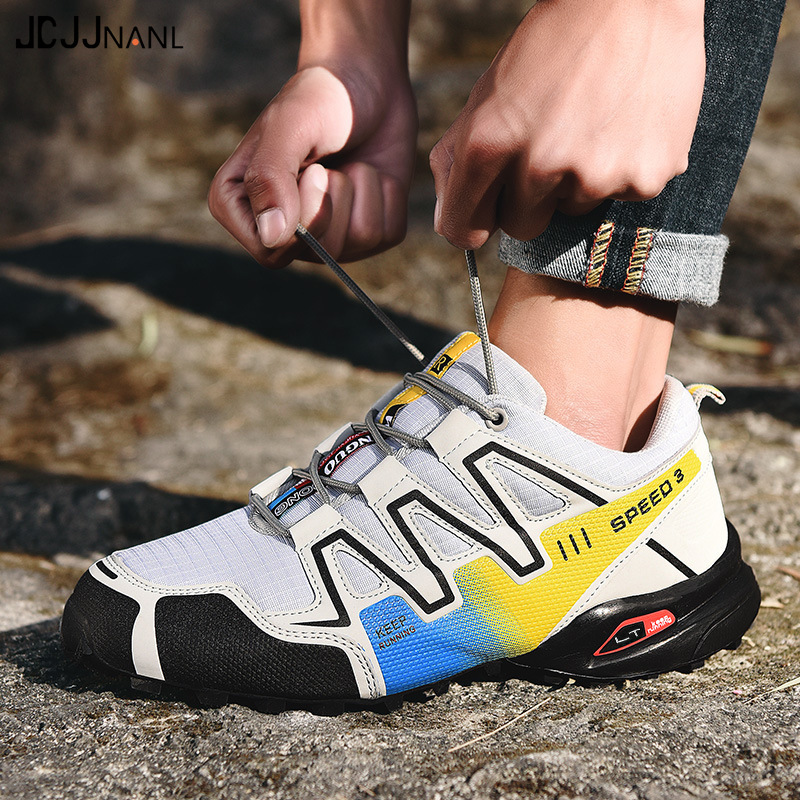 Gong Mao Solomon Series Large Size MEN'S SHOES Night Light Athletic Shoes Men Running Shoes Casual Sub-Travel Mountain Climbing