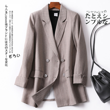 Stripe Loose Ladies Blazer Black Casual Vintage Suit Jacket Stylish Blazer Dames Korean Office Women Blazer Spring New MM60NXZ