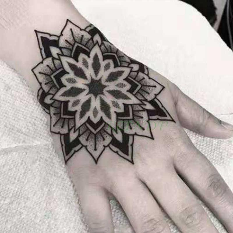 Autocollant de tatouage temporaire étanche fleur Rose faux Tatto Flash Tatoo main bras pied arrière Tato corps art pour fille femmes hommes