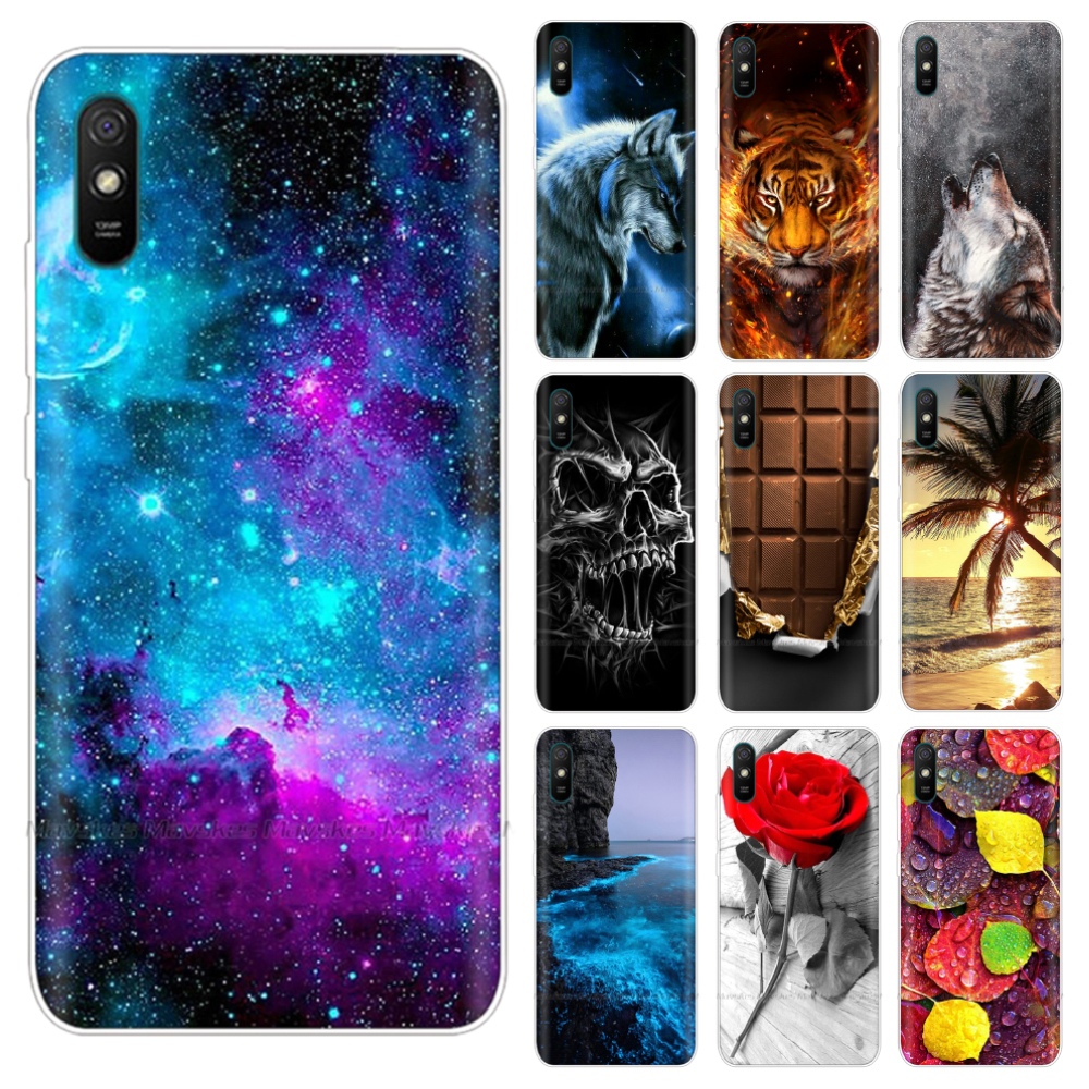 for Xiaomi Redmi 9A Case Cover Soft Silicone Cartoon TPU Back Cover for Xiaomi Redmi 9A Redmi9A 9 A Protective Phone Case Bags