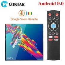 VONTAR A95X R3 4GB 64GB akıllı TV kutusu Android 9 9.0 Rockchip RK3318 1080P 4K 60fps BT Wifi youtube 2GB 16GB Set üstü kutusu