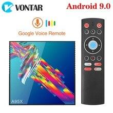 VONTAR A95X R3 4GB 64GB di Smart TV BOX Android 9 9.0 Rockchip RK3318 1080P 60fps 4K BT Wifi Youtube 2GB 16GB Set Top Box