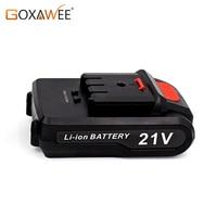 GOXAWEE 12 V/21 V akumulator litowy wielokrotnego ładowania do bezprzewodowy wkrętak elektryczny wiertarka elektryczna Mini wiertarka akcesoria do elektronarzędzi w Wiertarki elektryczne od Narzędzia na