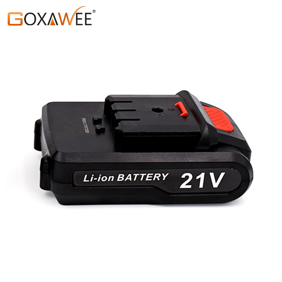 GOXAWEE 12V/21V Rechargeable Lithium Battery For Cordless Electric Screwdriver Electric Drill Mini Drill Power Tools Accessories