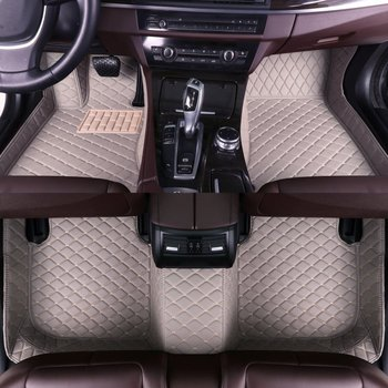 Leather Car Floor Mats For Peugeot 3008 2011 2012 2013 Auto Foot Pads Automobile Carpet Cover