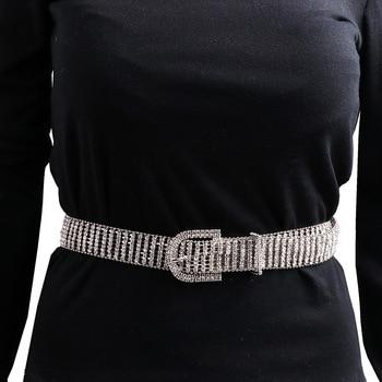 [LFMB]luxe brillant pleine strass incrusté femmes ceinture mode femme mariée large Bling cristal diamant taille chaîne ceintures 2