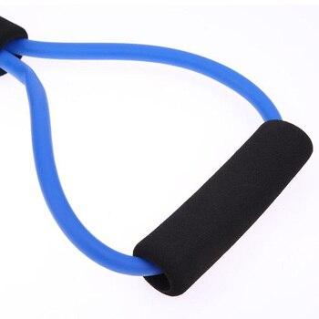 Home Sport Fitness Yoga 8 Shape Pull Rope Tube Equipment Fitness Belt Tool Gym Exercise send in random 5