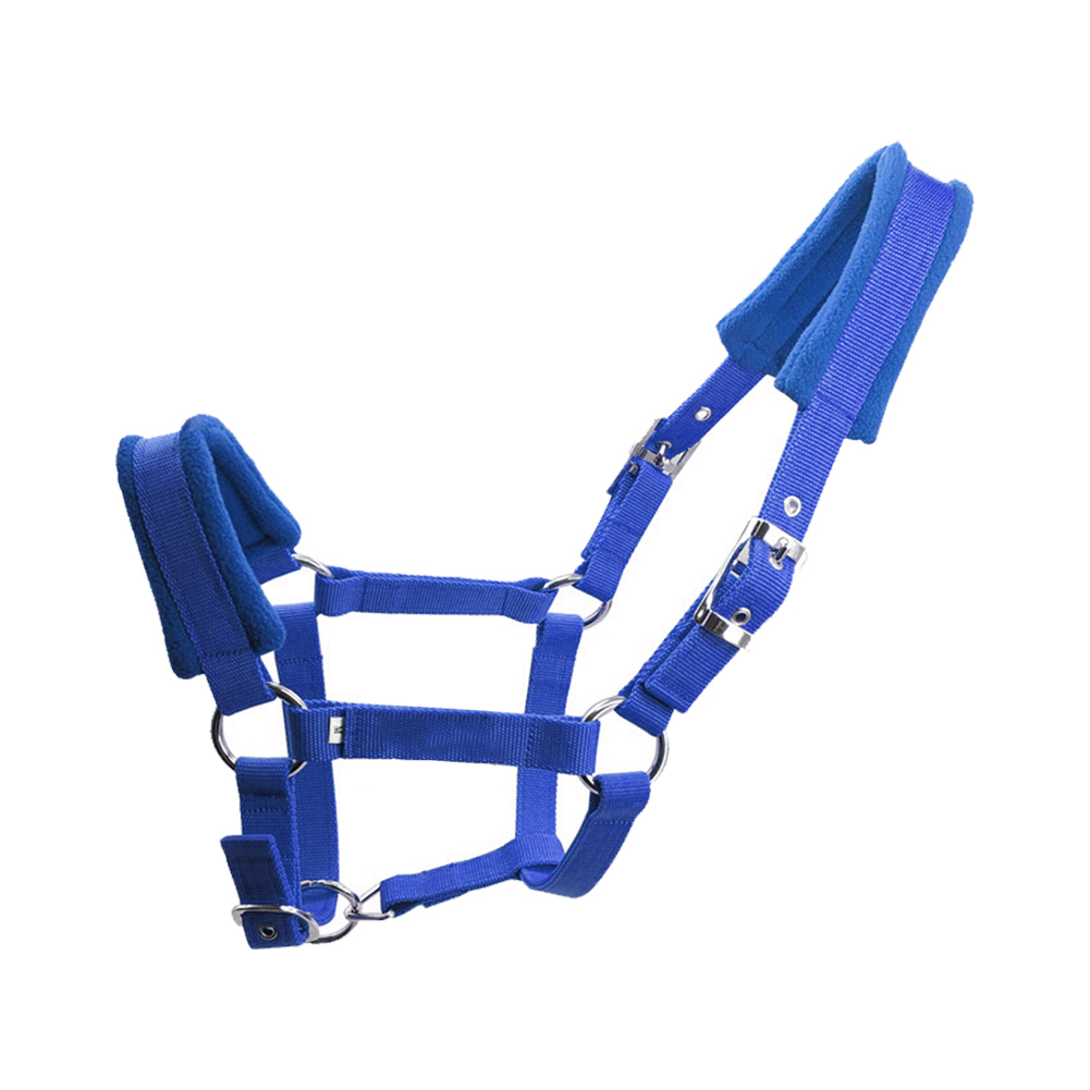 Durable Detachable Adjustable Strap Sports Horse Halter Fleece Padded Practical Protective Multiple Sizes Thicken Double Layered