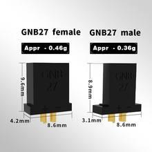 Новинка, Штекерный разъем Gaoneng GNB 27 для гоночных моделей, фиксированная плата мультикоптера, запасные части для самостоятельной сборки, 5 пар