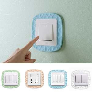 3D Silicone Luminous Switch Sticker Wall sticker Switch Panel Protective Cover Living Room Bedroom Simple Modern Socket Decor