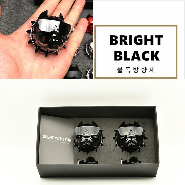2Pcs Bulldog Car Perfume Fragrance Diffuser air fresheners with Magnet Clip Auto Vents Scent Parfume Gift Box Car Decor 1