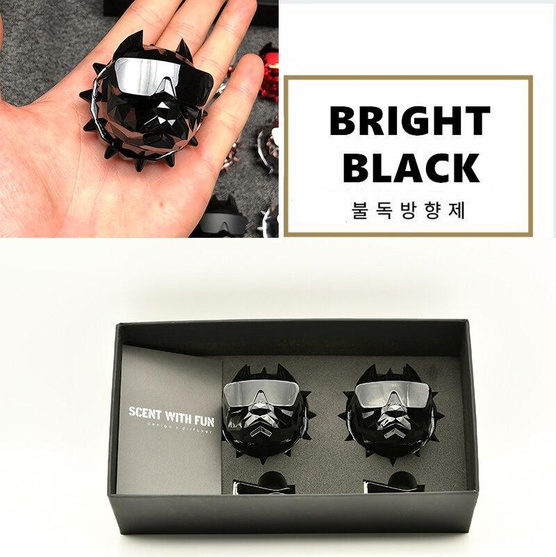 2Pcs Bulldog Car Perfume  Fragrance Diffuser air fresheners with Magnet Clip Auto Vents Scent Parfume Gift Box Car Decor
