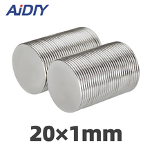 цена на 5/20/100 pcs N35 20x1mm neodymium magnet 20 * 1mm super strong neodymium disc small magnets rare earth magnets 20 x 1mm