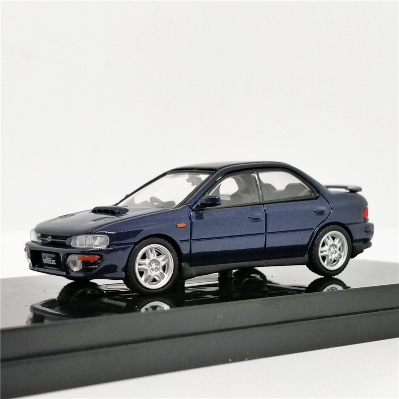 Hobby Japan 1:64 Subaru Impreza WRX GC8 Cosmic Blue Mica Diecast Model Car