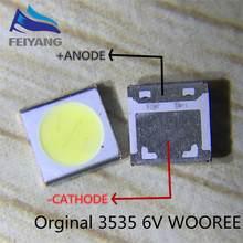 50PCS 2W 6V 3535 150LM WOOREE Retroiluminação LED Cool white WM35E2F-YR09B-eA Backlight LCD para TV TV Aplicação