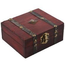 Деревянный винтажный замок сундук для хранения ювелирных изделий Чехол Органайзер кольцо подарок