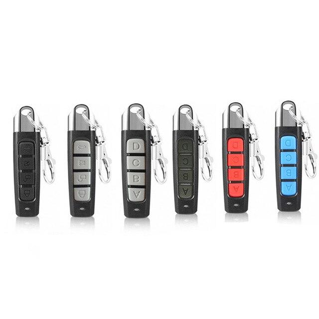 Mando a distancia clon de 4 botones, transmisor inalámbrico, puerta de garaje, controlador de copias eléctricas, llave de bloqueo antirrobo