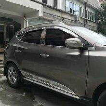 Use For Hyundai IX35 2009--2017 Year 4 Pcs Windows Visor Body Kit Door Accessories Electroplated Parts Rain Sun Shield
