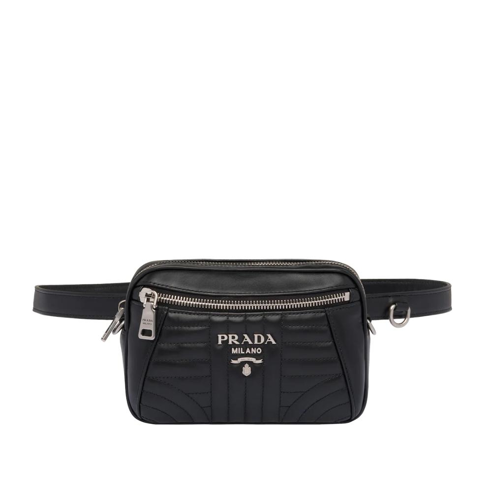 Zipper Prada Diagramme Leather Belt Bag Women's Fashion Waist Packs Leather Belt Bag 1BL006_2D91_F0633_V_OOI