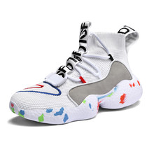 Man Sneaker For Men Brand Outdoor High Top Shoes Elasticity Warm Winter Walk Casual Shoes Male Shoes Trend Zapatos Hombre 38- 48