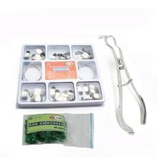 100Pcs Dental Matrix Sectional Contoured Metal Matrices+ Matrix Band Forming Clip+40pcs wedges silicone Dental material недорого