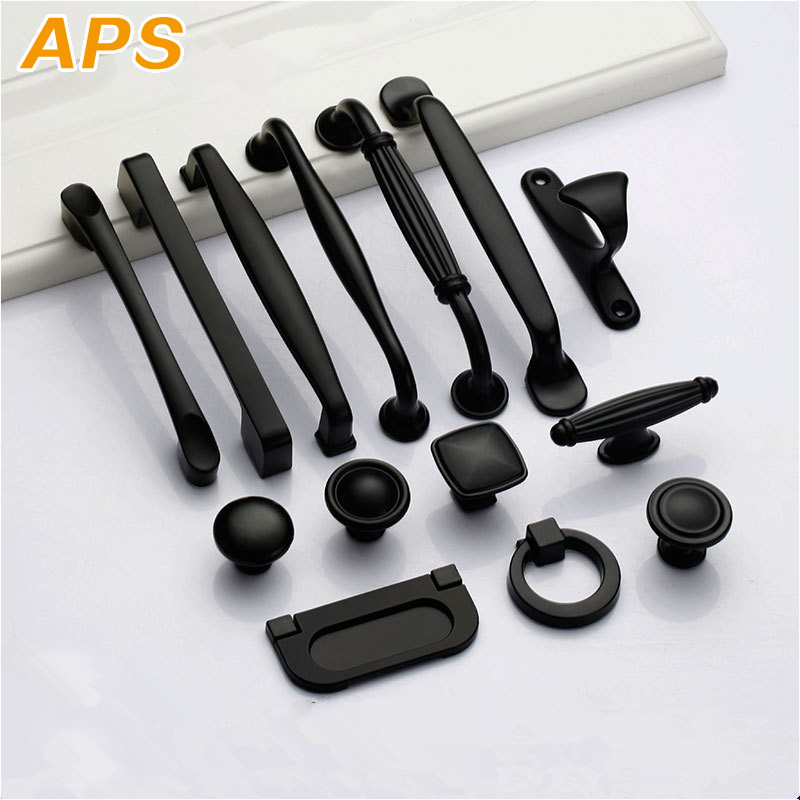 Black Handles For Furniture Cabinet Knobs And Handles Kitchen Handles Drawer Knobs Cabinet Pulls Cupboard Handles Knobs