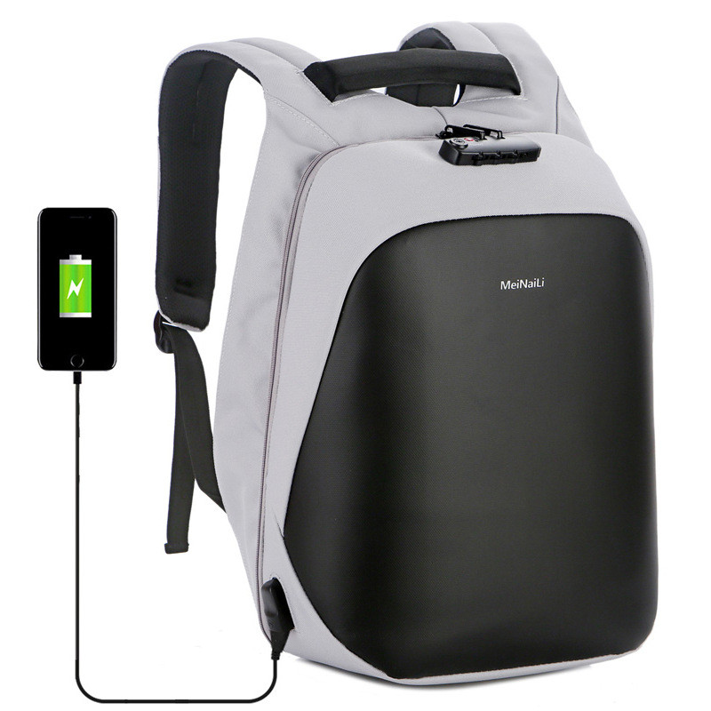 Men 15.6 Inch Laptop Backpack Anti Theft Business Male USB Recharging Bags Fashion Mens Short Trip Waterproof Travel Back Pack