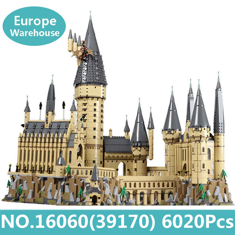 Building-Blocks-Set House-Toys Castle Legoinglys Architecture Hogwart Gift Movie Harry title=