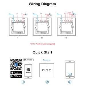 Image 5 - SONOFF T2 EU/US/UK TX 스마트 라이트 벽 스위치 소켓 패널 터치/Wifi/433mhz/Eweilink/RF/APP 무선 원격 제어 Google 홈