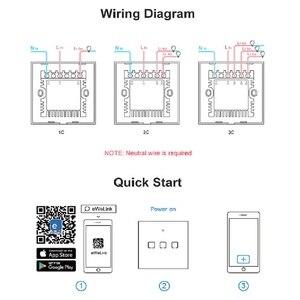 Image 5 - Sonoff t2 ue/eua/reino unido tx interruptor de parede luz inteligente painel soquete toque/wifi/433mhz/eweilink/rf/app controle remoto sem fio google casa