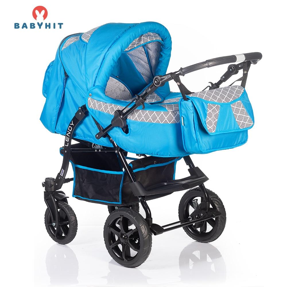 Lightweight Stroller BABYHIT LENDY Mother and Kids stroll baby for boys and girls children strollers Blue