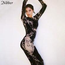 Nibber-vestido ceñido con estilo para mujer, ropa informal básica de otoño