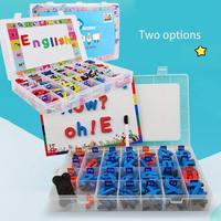 English Uppercase Lowercase Letters Magnetic Stickers with Baseboard Pre school Educational Kit Kids Educational Sticker Toys