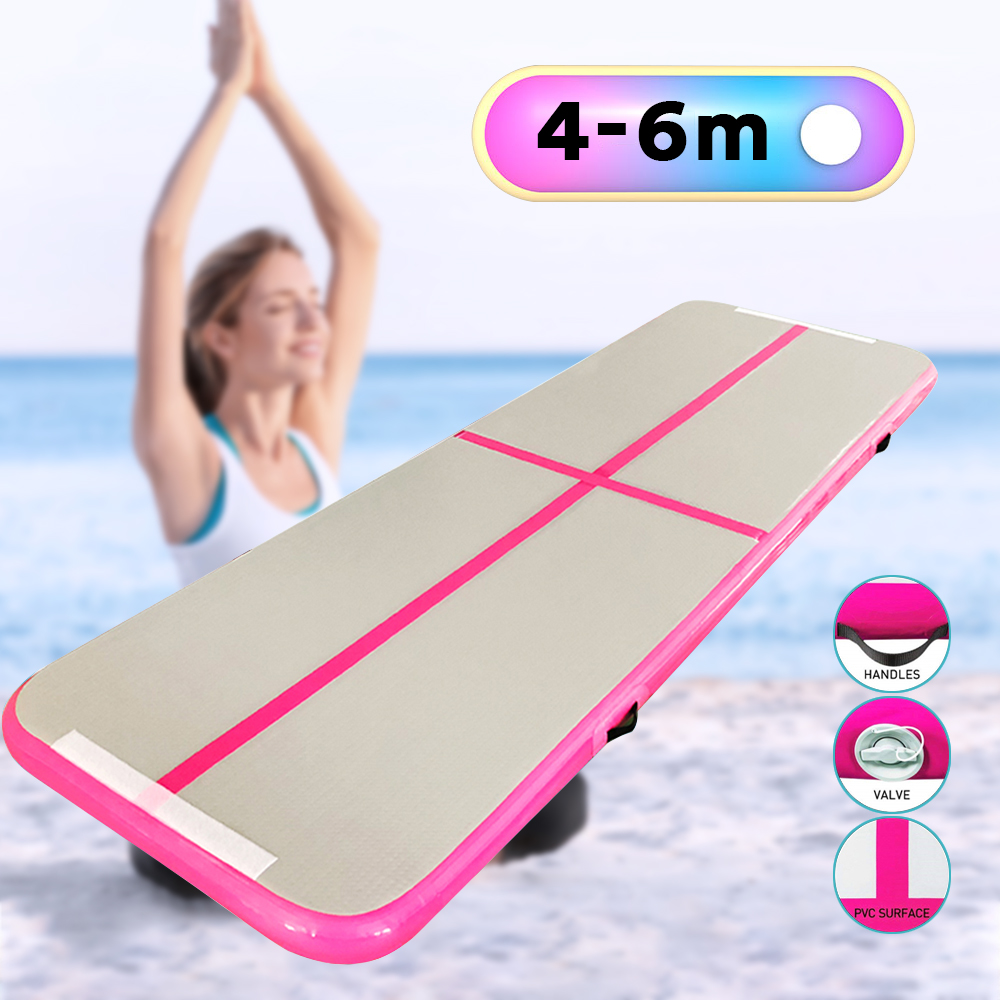 4m/5m/6m Inflatable Airtrack Gymnastics Air Track Acrobatic Mattress Floor Inflable Yoga Mat for Fitness with Electric Pump