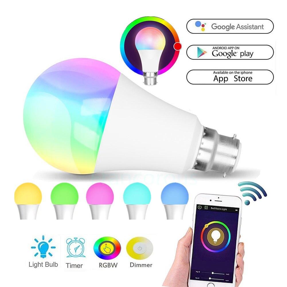 2020 Hot WIFI Smart LED Light Bulb RGBW App Control 7W For Amazon Alexa Google Home S7 #5