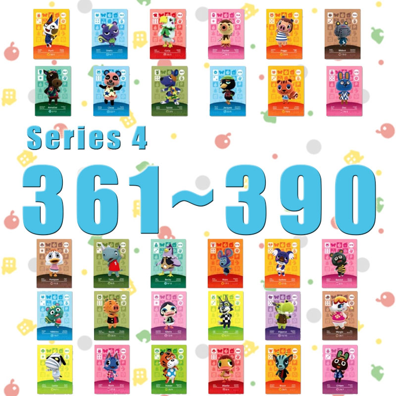 Animal Crossing Card Amiibo Card Work For NS Games Series 4 (361 To 390)