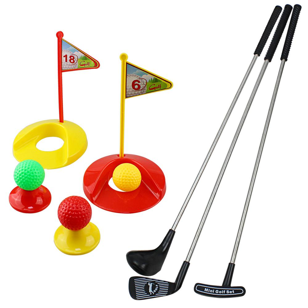 CREASTGOLF Portable Children Golf Club Set Toy  Flag Mat Golf Practice Ball Sports Golf Game