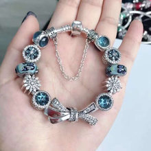 high quality 1:1 100% 925 silver sterling butterfly freight bracelet accounts free(China)